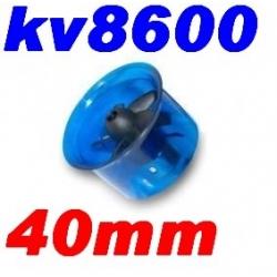 MOTEUR BRUSHLESS KV 8600 + TURBINE DIAMETRE 40mm LIPO 2S ET 3S  poussée 250g