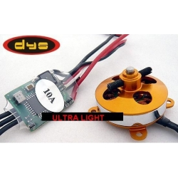 ULTRA LIGHT BRUSHLESS A-2812/14 DYS 97W +  ESC 10A DYS traction 400g