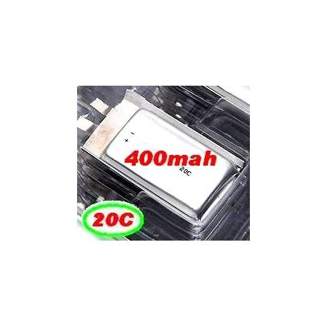 BATTERIE LIPO XTREM POWER RC  1S 3.7V  400mah 20C