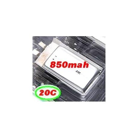 BATTERIE LIPO XTREM POWER RC  1S 3.7V  850mah 20C