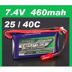 BATTERIE LI-PO NANO-TECH TURNIGY  7.4V 460 mah 25C F3P