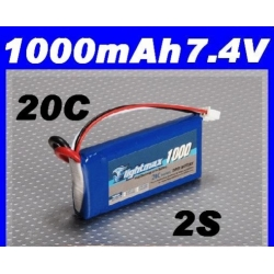 BATTERIE LIPO ZIPPY FLIGHTMAX  7.4 V 1000mAh  20C