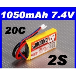 BATTERIE RHINO  7.4v  1050mah 20C F3P