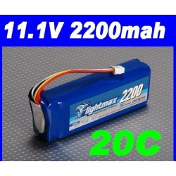 batterie lipo 11.1v 2200mah 20C / 30C  ZIPPY LIGHTMAX