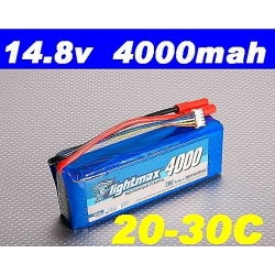 BATTERIE ZIPPY 4S 14.8V 4000mah 20C
