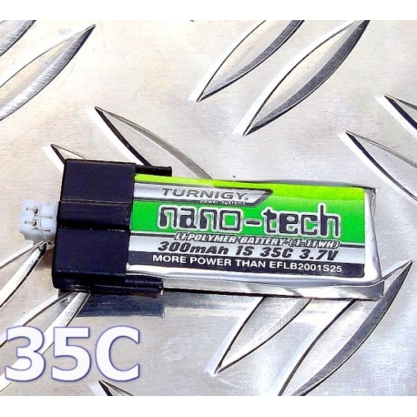 BATTERIE LIPO TURNIGY 1S 3.7V  300mah 35C  NANO-TECH  IDEAL  E-FLIGHT BLADE  mCPx