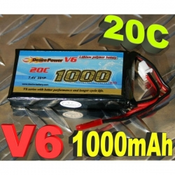 BATTERIE DESIRE POWER V6 7.4V 1000 mha 20C F3P