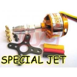 """MOTEUR BRUSHLESS """"38gr"""" KV2600 BL2208/08 DYS  A-2822/8 poussée  420gr 200W  special jet depron pusher"""