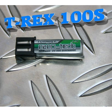 BATTERIE LIPO TURNIGY 1S 3.7V  160mah 25-40C  NANO-TECH  IDEAL  T-REX 100