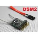 MICRO RECEPTEUR 4g MX1  2.4GHZ  6 VOIES  COMPATIBLE DSM2 SPEKTRUM