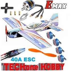 KIT AVION EPP  TECHONE EXTRA 330  3D  INCASSABLE COMBO 2