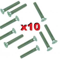 10  BOULONS TETE FRAISÉE M3 X 10mm