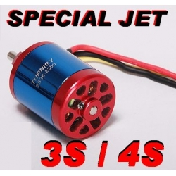 "MOTEUR BRUSHLESS ""79gr"" KV2350 T2836 TURNIGY 3 ET 4S  poussée  1200gr ET + 550W special jet depron pusher"