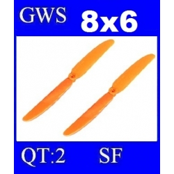 HELICES TYPE GWS 8X6 SLOW FLYER PAR DEUX PIECES