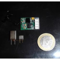 MICRO RECEPTEUR FM 4 VOIES  TECHONE +  PAIRE DEQUARTZ 72  MHz MOLEX POUR RADIO FUTABA ET COMPATIBLES