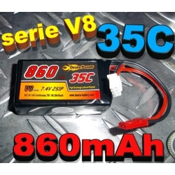 BATTERIE DESIRE POWER V8  7.4V 860 mha 35/70C