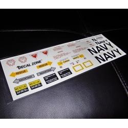 FEUILLE AUTOCOLLANTS JET  US NAVY 300X10