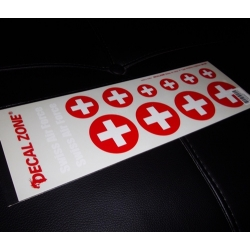 FEUILLE AUTOCOLLANTS  AIR FORCE SUISSE 300X10