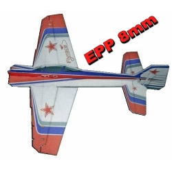 KIT AVION EPP 8mm  3D  YAK 55 CRACK   ROUGE/BLANC/VIOLET