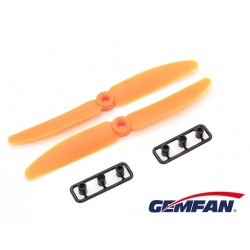 LOT DE 2 HELICES  GEMFAN CW / CCW 5X3 ORANGES