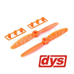LOT DE 2 HELICES  DYS  CW / CCW 5X3 ORANGES