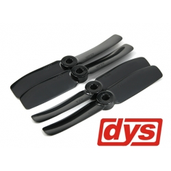 LOT DE 4  HELICES  DYS  CW / CCW 4X4 NOIRES HAUTE PERFORMANCE