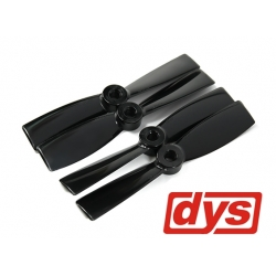 LOT DE 4  HELICES  DYS  CW / CCW 4X4.5 NOIRES HAUTE PERFORMANCE