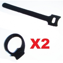 2  BANDES  DE FIXATION STRAP  POUR BATTERIE VELCRO SCRATCH 150mm