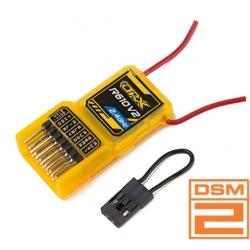 MINI RECEPTEUR ORANGERX 2.4GHZ  6 VOIES R610V2 BOITIER COMPATIBLE DSM2 SPEKTRUM