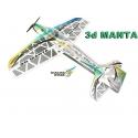 AVION DEPRON 3d MANTA DW HOBBY KIT SEUL