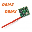 NANO RECEPTEUR ORANGERX 2.4GHZ  6 VOIES R614XN COMPATIBLE DSM2 DSMX SPEKTRUM JR