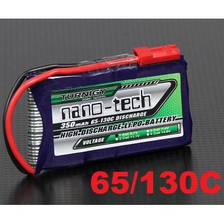 BATTERIE LIPO TURNIGY 1S 3.7V  350mah 65C / 130C  NANO-TECH
