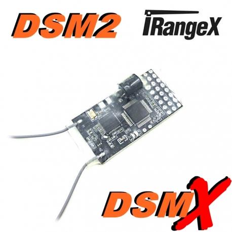 MICRO RECEPTEUR RM601 B   iRangeX    2.4GHZ  6 VOIES + PORT PPM COMPATIBLE DSM2 DSMX SPEKTRUM / JR