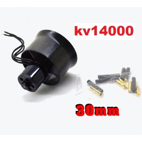 MOTEUR BRUSHLESS KV 7000 + TURBINE DIAMETRE 30mm LIPO 2 et 3S