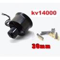 MOTEUR BRUSHLESS KV 14000 + TURBINE DIAMETRE 30mm LIPO 2 et 3S