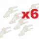 LOT 6  GUIGNOLS  NYLON 3 TROUS a coller 18x13mm