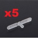 LOT 5   CHAPES NYLON     22 mm   x  percage diametre 1.20mm  SUPER LIGHT