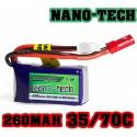 BATTERIE LI-PO NANO-TECH TURNIGY  7.4V 260 mah 35C / 70C F3P