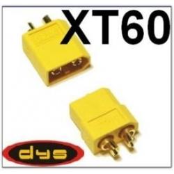 PRISE CONNECTEUR XT60 OR    X 1 PAIRE