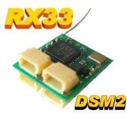 NANO RECEPTEUR  RX33 0.65g  2.4GHZ  6 VOIES  COMPATIBLE DSM2 SPEKTRUM