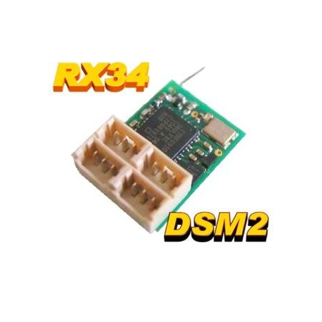 NANO RECEPTEUR RX34  0.68g  2.4GHZ  6 VOIES  COMPATIBLE DSM2 SPEKTRUM
