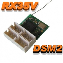 NANO RECEPTEUR RX35V  0.71g  2.4GHZ  6 VOIES  COMPATIBLE DSM2 SPEKTRUM