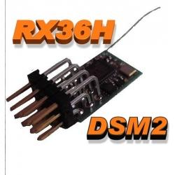 NANO RECEPTEUR RX36H  1.30g  2.4GHZ  6 VOIES  COMPATIBLE DSM2 SPEKTRUM