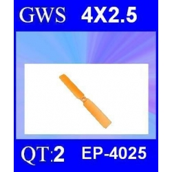 HELICES  GWS EP-4025  4X2.5 PAR 2 PIECES