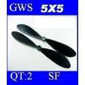 HELICES DYNAM TYPE GWS EP-5050  5X5 PAR 2 PIECES