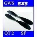 HELICES DYNAM TYPE GWS EP-5050  5X5 PAR 2 PIECES
