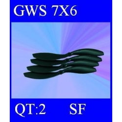 HELICES TYPE GWS 7X6 SLOW FLYER PAR DEUX PIECES