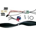ULTRA LIGHT BRUSHLESS T2211 KV1700 +  ESC 10A DYS . TRACTION 250g
