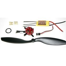 "COMBO """" 13g """"  NANO BRUSHLESS D1400 KV2000 +  ESC 7A  TRACTION 90g"