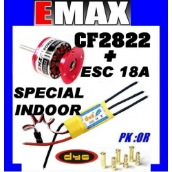 BRUSHLESS CF2822 EMAX 202W + ESC 18A DYS TRACTION 700g